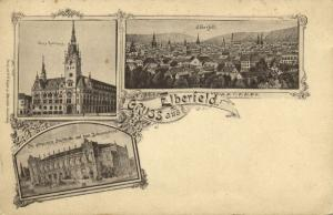 germany, ELBERFELD, Wuppertal, Multiview, Town Hall, Neues Rathhaus (1899)