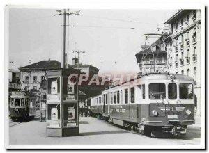 Postcard Modern SZB Triebwagen ABFE 4 4 1 1 sind und die Tramlinie inzwiscvhe...