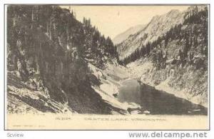 View of Snow Crater Lake,Washington & OR 1907