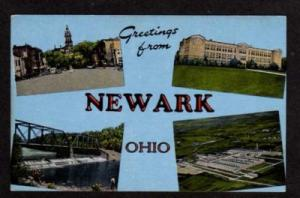 OH Greetings NEWARK OHIO Postcard Permanite Plant Court