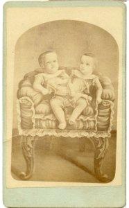 SIAMESE TWINS, THE ST BENOIT TWINS, 1870s
