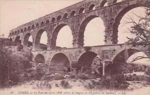 France Nimes Le Pont du Gard