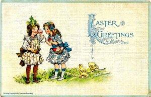 Greeting - Easter.  Artist: F. Brundage  (Gabriel Series 515)