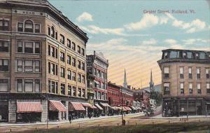 Vermont Rutland Center Street 1914