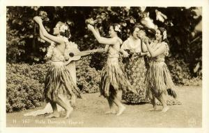 hawaii, HONOLULU, Hula Dancers, Dancing Girls (1920s) RPPC