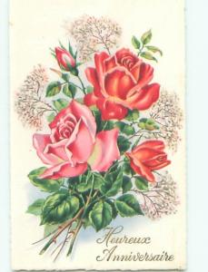 Very Old Foreign Postcard BEAUTIFUL FLOWERS SCENE AA4972