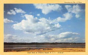 Atlantic Beach Rhode Island Clam Beds Waterfront Vintage Postcard K103944
