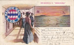 Pacific Mail Steamship Company On Board S S Manchuria 1905