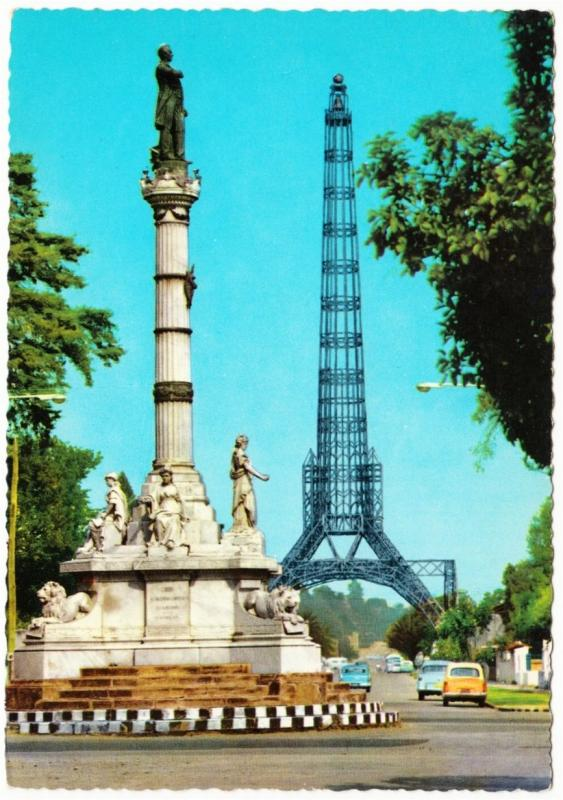 Guatemala City Garcia Granados Monument & Tower of Reformer 1960s-1970s Postcard