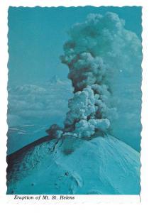 WA Mount St Helens Eruption Volcano March 1980 Postcard 4X6