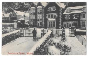 Scotland Loch Lomond Inversnaid Hotel Winter Postcard