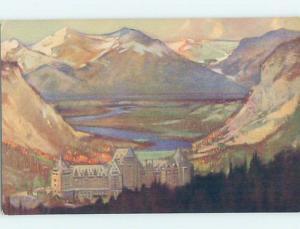 1950's HOTEL SCENE Banff Alberta AB H0404