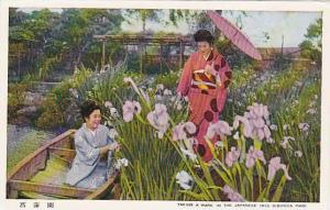 Ladies (One On A Boat), Taking A Walk In The Japanese Iris Sibirica Park, Jap...