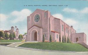California San Diego Unites States Navy Hospital Chapel 1956