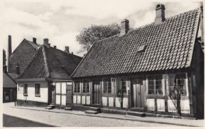 Hans Christian Anderson Old House Odense Denmark Real Photo Postcard