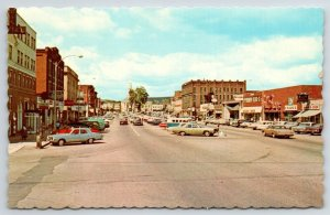 Keene New Hampshire~VW Bus, Barber Shop, Loans, Theater on Widest Main St 1960s