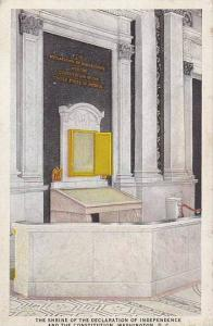 The shrine of teh Declaration of Independence and  the Constitution, Washingt...