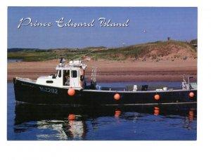 Lobster Boat, Prince Edward Island, Large 5 X 7 inch Postcard