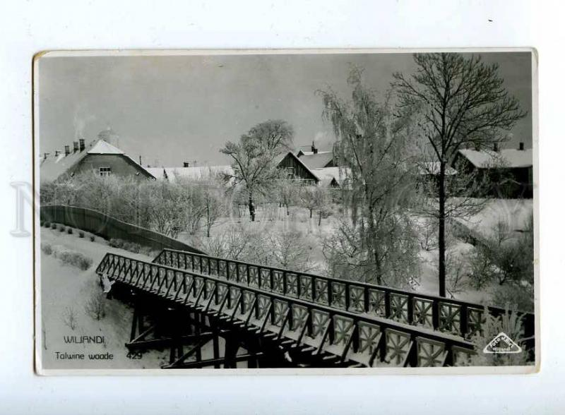 203144 ESTONIA WILJANDI Talwine waade Vintage photo #429
