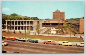 Detroit MI~Wayne State University~McGregor Hall~Nice 1950s Cars~Station Wagon