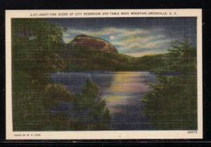 South Carolina colour PC City Reservoir Table Rock Mtn Greenville, unused