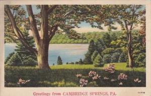 Pennsylvania Greetings From Cambridge Springs 1942