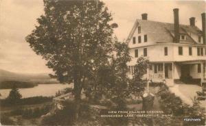 1930s Greenville Maine Moosehead Hillside Gardens Artvue postcard 6658