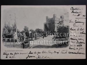 c1903 Rochester Castle and Gardens - (PM) ROCHESTER cds