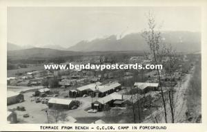 TOOELE, Utah, Terrace from Bench, C.C.Co. Camp in Foreground (1950s) RPPC