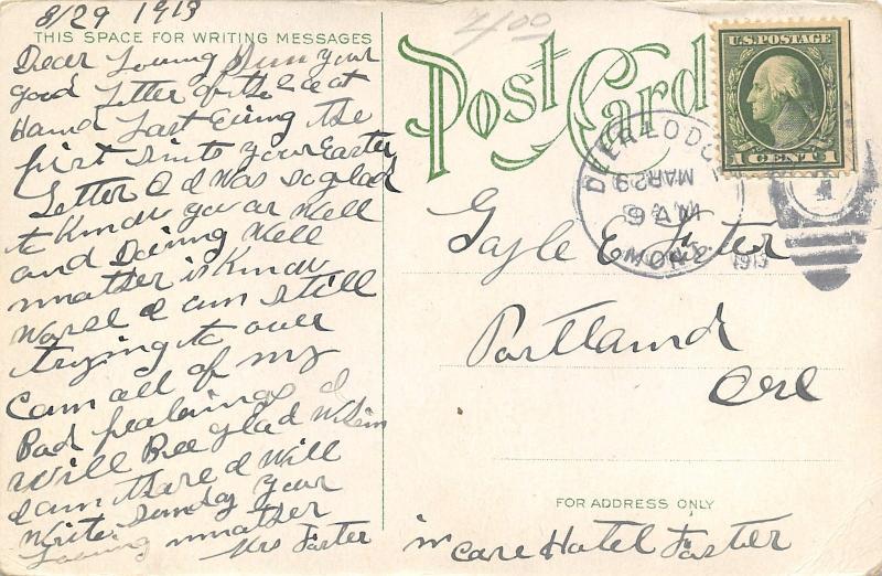 Deer Lodge Montana~St Joseph's Hospital~2 Story Frame~White Picket Fence~1913 PC