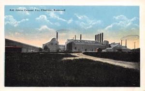Chanute Kansas~Ash Grove Cement Company~Dirt Road to Plant Factory~1920 Postcard