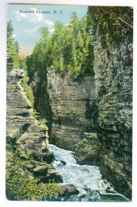 Cliff Haven to Rochester, New York 1915 used Postcard, Ausable Chasm
