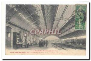 Lannemezan Old Postcard Interior of the station (tres animee)