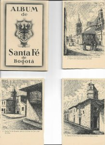Colombia Bogota 6 Illustrated Postcards With Original Packaging   01.14