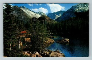 Bear Lake UT- Utah, Long's Peak, Aerial View, Mountains, Chrome Postcard