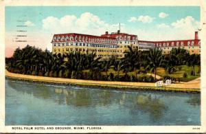 Florida Miami Royal Palm Hotel and Grounds 1927 Curteich