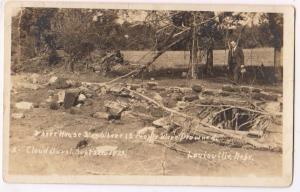 RPPC, 12 Drowned, Cloud Burst Sept 28 1923, Louisville Nebr