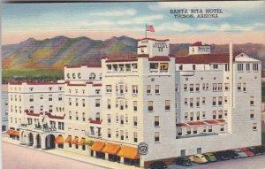 Arizona Tucson Santa Rita Hotel 1950 Curteich sk2853
