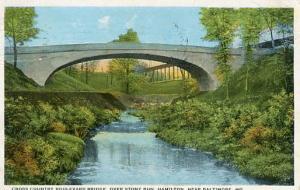 MD - Baltimore, Cross Country Blvd, Bridge over Stony Run, Hamilton