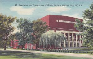 Winthrop College , ROCK HILL , South Carolina , 30-40s ; Auditorium & Conserv...