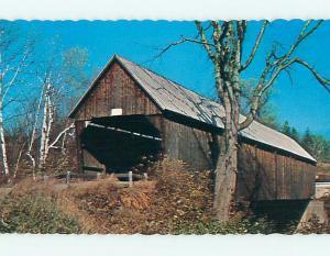 Unused Pre-1980 COVERED BRIDGE West Woodstock Vermont VT t7486