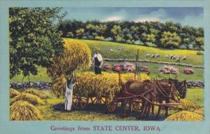 Iowa Greetings From State Center 1951