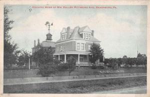 Saxonburg Pennsylvania Country Home Street View Antique Postcard K106382