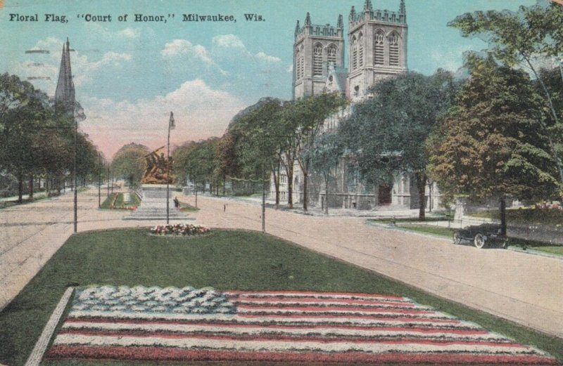 MILWAUKEE, Wisconsin, 1900-10s; Floral Flag, Court of Honor