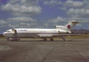 TLA Airlines, Boeing 727-191F, unused Postcard