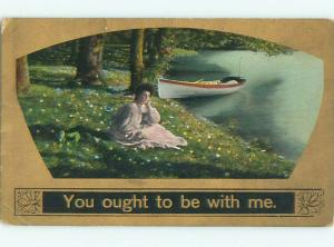 Divided-Back PRETTY WOMAN Risque Interest Postcard AA7836
