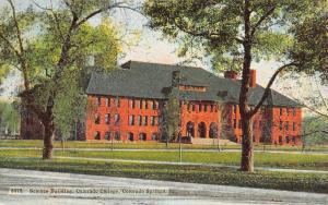 Colorado Springs~Colorado College Science Building~1912 Postcard