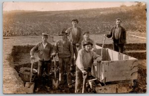 RPPC Group of Masonry? Workers Prepare to Pour Foundation of New Structure c1910