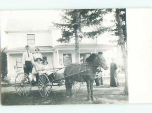 Old rppc HORSE SCENE Great Postcard AB1960