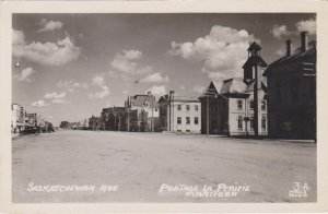 RP: PORTAGE LA PRAIRIE , Manitoba , Canada , 30-40s ;  Saskatchewan Avenue